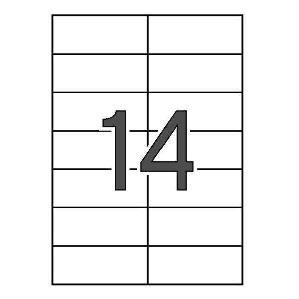 SINEL 105 x 42,3 Etiquetas blancas cantos rectos 250 hojas