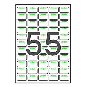 Etiquetas para EL CORTE INGLES sin desmallar 500 hojas 36,9 x 23,8