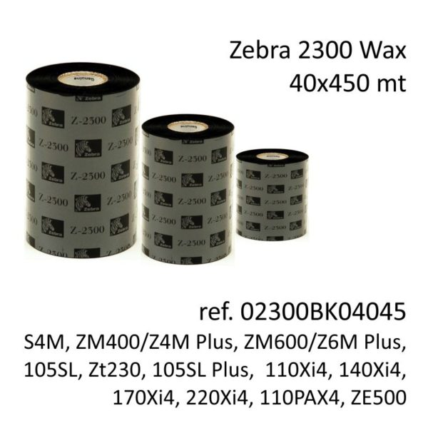 ribbon zebra 02300BK04045