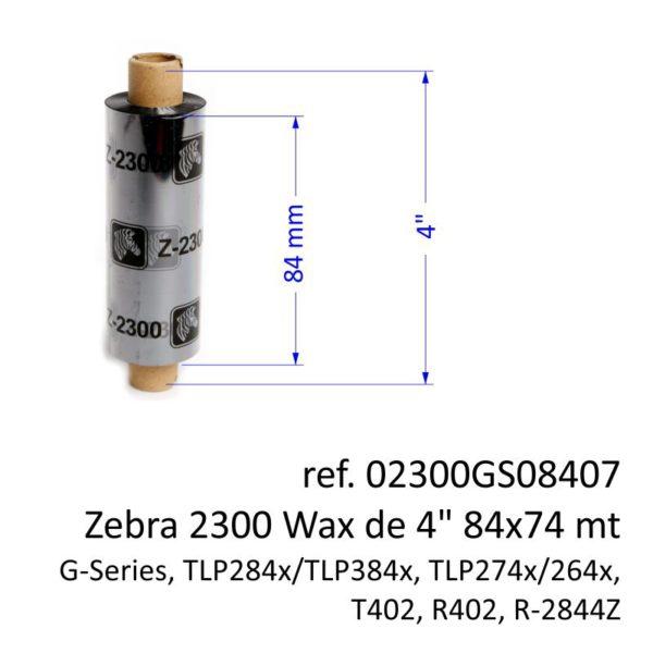 ribbon zebra 02300GS08407
