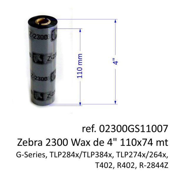 ribbon zebra 02300GS11007
