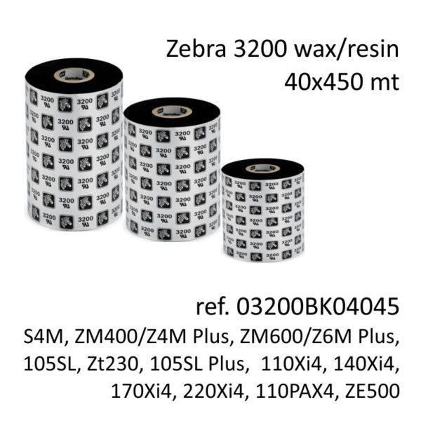ribbon zebra 03200BK04045