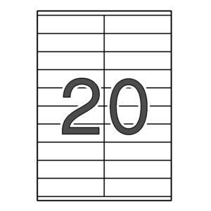 APLI 105 x 29 Etiquetas cantos rectos 100 HOJAS
