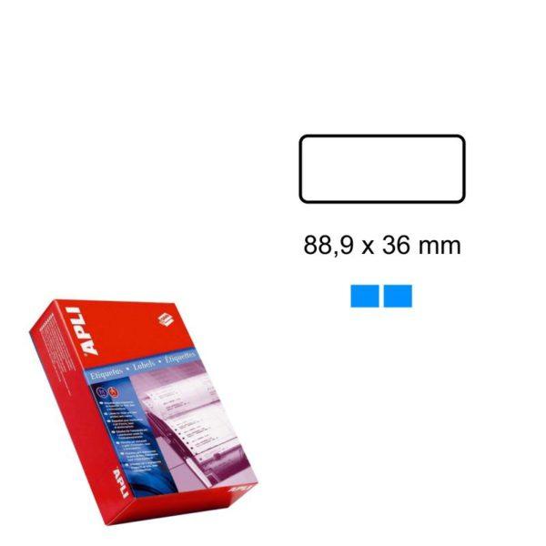 APLI 88,9 x 36 Etiquetas ordenador en papel continuo