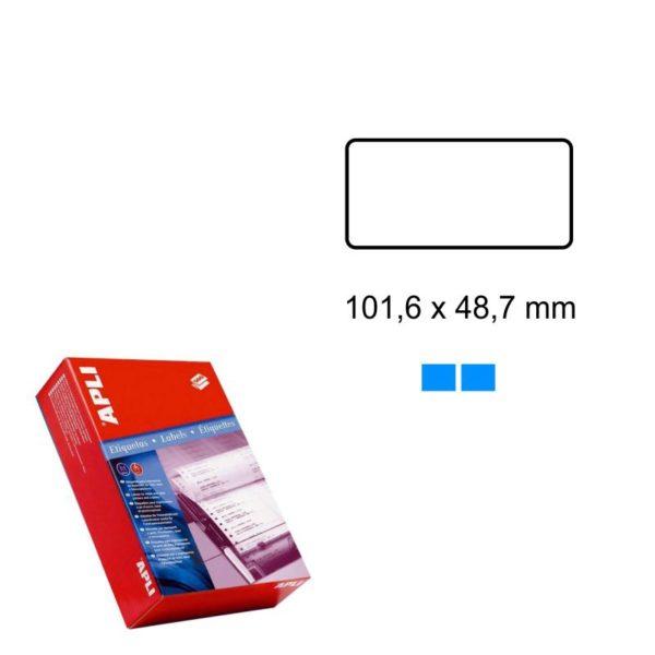 APLI 101,6 x 48,7 Etiquetas ordenador en papel continuo