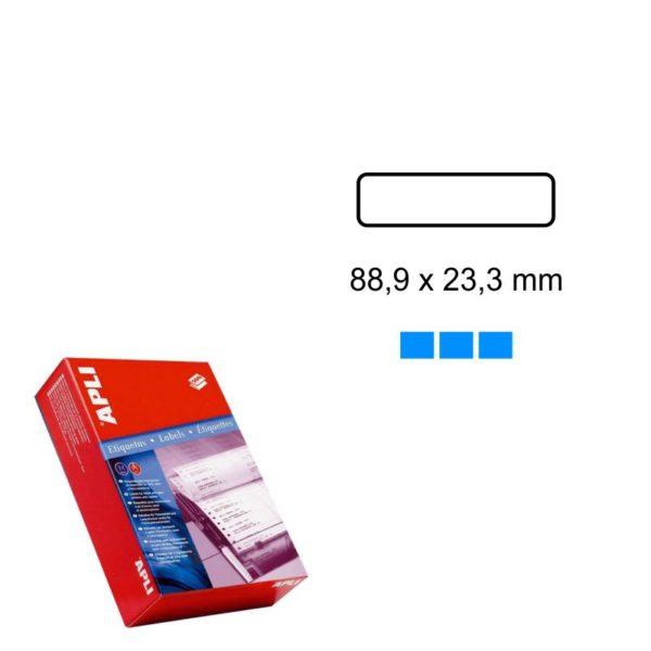 APLI 88,9 x 23,3 Etiquetas ordenador en papel continuo