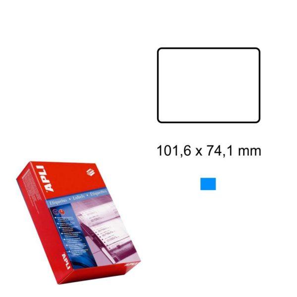 APLI 101,6 x 74,1 Etiquetas ordenador en papel continuo