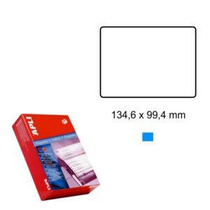 APLI 134,6 x 99,4 Etiquetas ordenador en papel continuo
