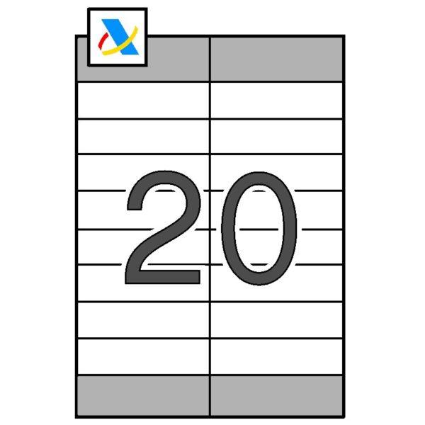 APLI Etiquetas Hacienda cantos rectos 105 x 28,7 (+105 x 33,5)
