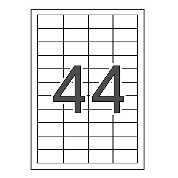 APLI 48,5 x 25,4 Etiquetas blancas cantos rectos 25 hojas