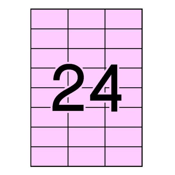 APLI 70 x 37 Etiquetas cantos rectos color rosa claro 20 hojas