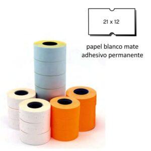 Etiquetas 21x12 blanco permanente pack de 6 rollos