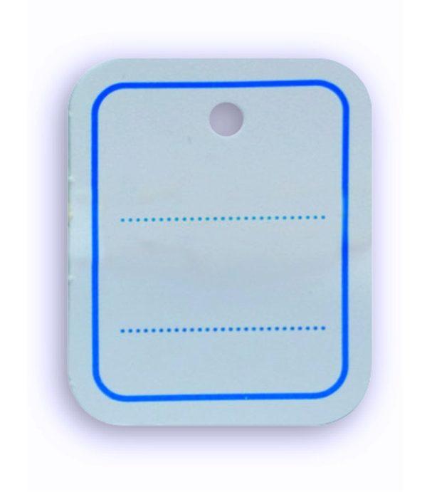 Etiquetas téxtiles cartulina 30 x 37 mm - 1000 unidades