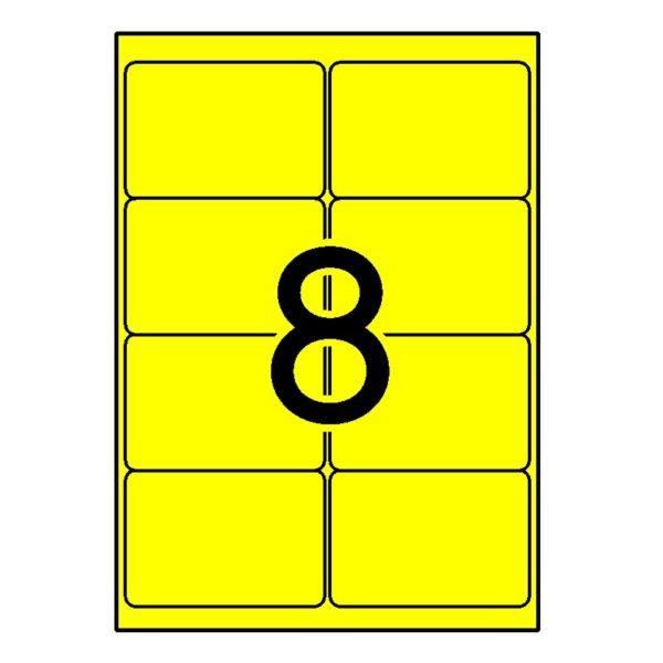 APLI 99,1 x 67,7 Etiquetas fluorescentes amarillo cantos romos 100 h.