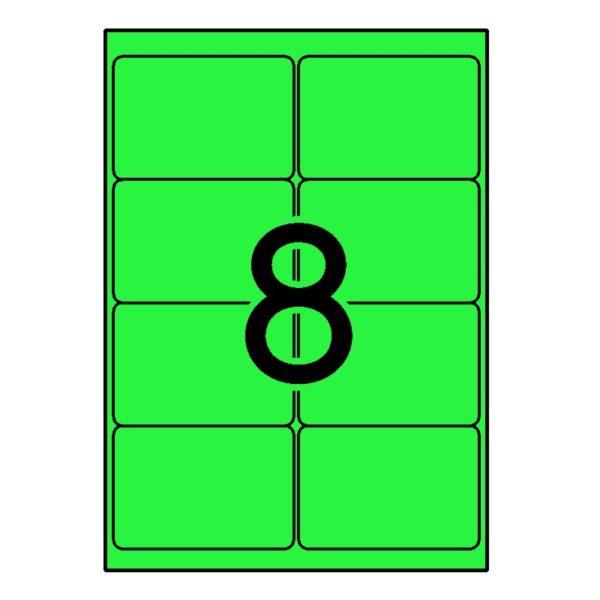 APLI 99,1 x 67,7 Etiquetas fluorescentes verde cantos romos 100 h.