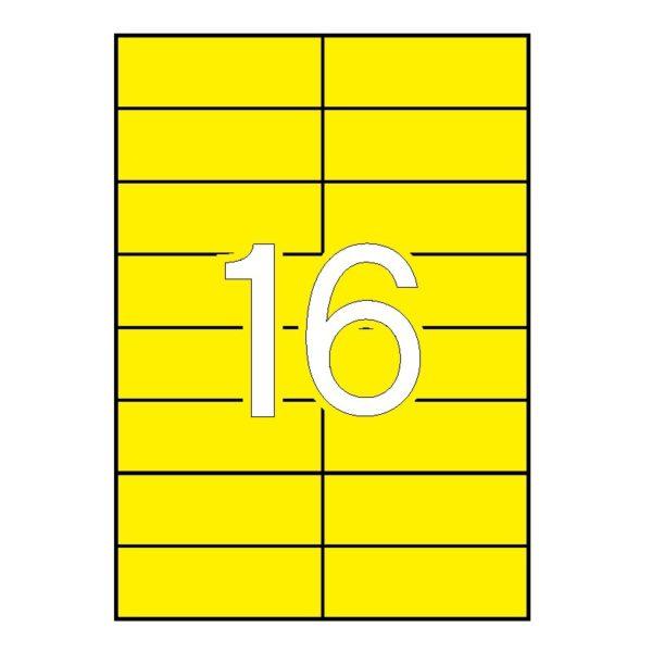 APLI 105 x 37 Etiquetas de color amarillo cantos rectos 100 hojas