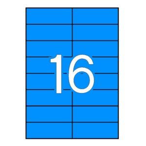 APLI 105 x 37 Etiquetas de color azul cantos rectos 100 hojas