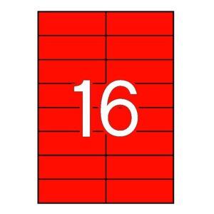 APLI 105 x 37 Etiquetas de color rojo cantos rectos 100 hojas