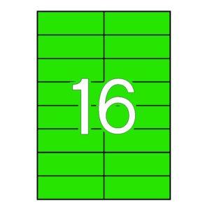 APLI 105 x 37 Etiquetas de color verde cantos rectos 100 hojas
