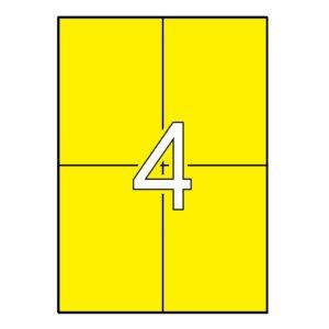 APLI 105 x 148 Etiquetas de color amarillo cantos rectos 20 hojas