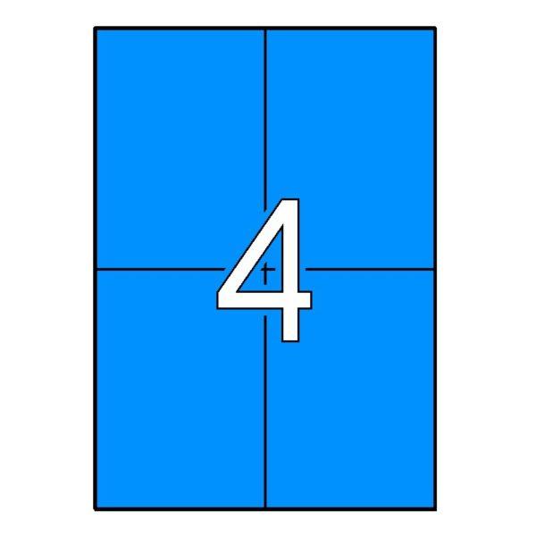 APLI 105 x 148 Etiquetas de color azul cantos rectos 20 hojas