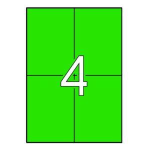 APLI 105 x 148 Etiquetas de color verde cantos rectos 20 hojas