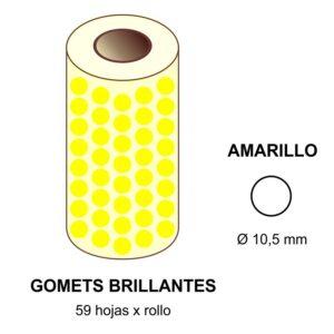 GOMETS AMARILLOS EN ESTUCHE Ø 10,5 mm