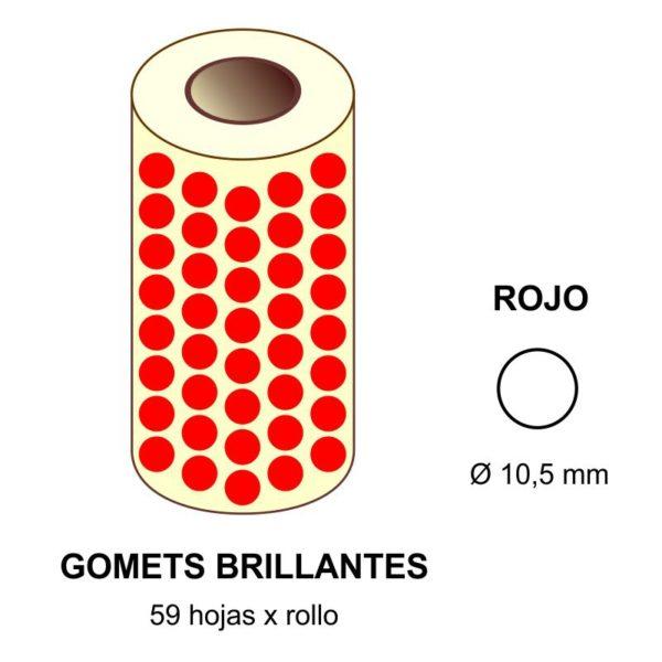 GOMETS ROJOS EN ESTUCHE Ø 10,5 MM