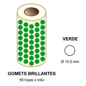 GOMETS VERDES EN ESTUCHE Ø 10,5 MM