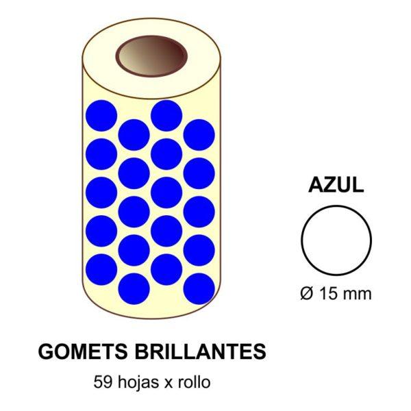 GOMETS AZULES EN ESTUCHE Ø 15 MM