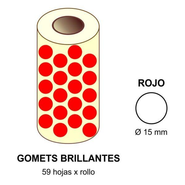 GOMETS ROJOS EN ESTUCHE Ø 15 MM