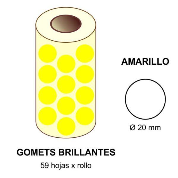 GOMETS AMARILLOS EN ESTUCHE Ø 20 MM