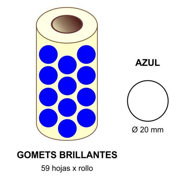 GOMETS AZULES EN ESTUCHE Ø 20 MM