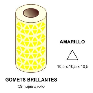 GOMETS AMARILLOS EN ESTUCHE 10,5 x 10,5 x 10,5 MM