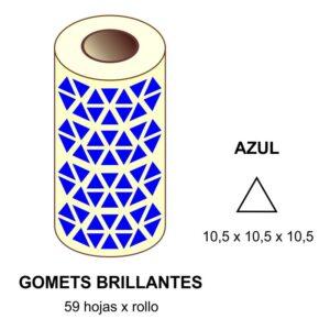 GOMETS AZULES EN ESTUCHE 10,5 x 10,5 x 10,5 MM