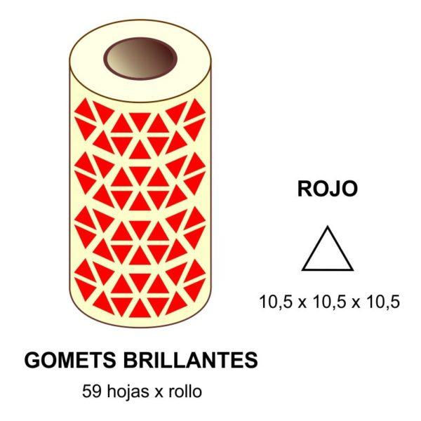 GOMETS ROJOS EN ESTUCHE 10,5 x 10,5 x 10,5 MM