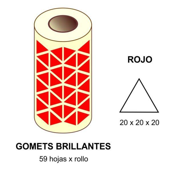 GOMETS ROJOS EN ESTUCHE 20 x 20 x 20 MM