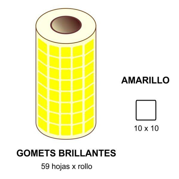 GOMETS AMARILLOS EN ESTUCHE 10 x 10 MM