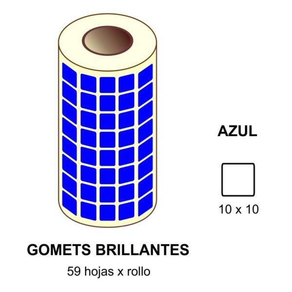 GOMETS AZULES EN ESTUCHE 10 x 10 MM
