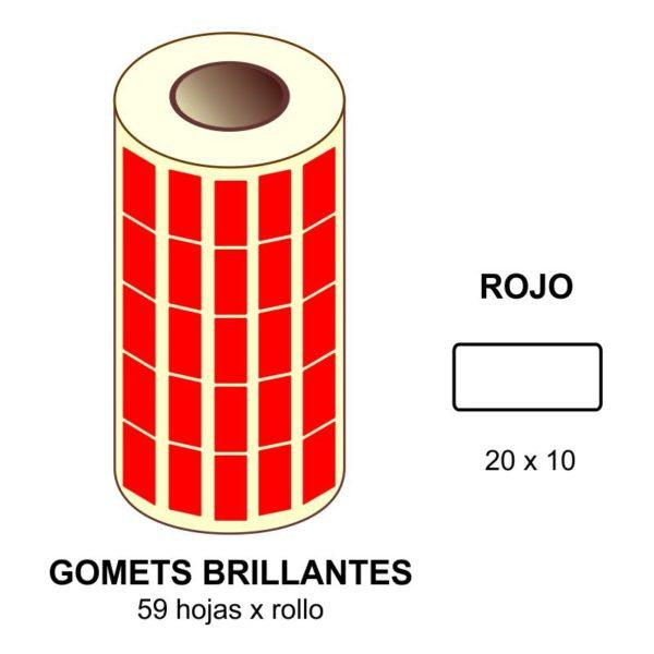 GOMETS ROJOS EN ESTUCHE 20x10 MM