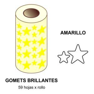 GOMETS AMARILLOS EN ESTUCHE ESTRELLA GRANDE - PEQUEÑA