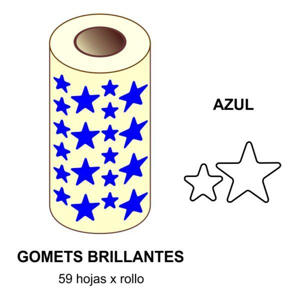 GOMETS AZULES EN ESTUCHE ESTRELLA GRANDE - PEQUEÑA