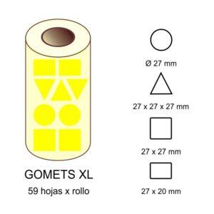 GOMETS XL EN ESTUCHE: amarillo