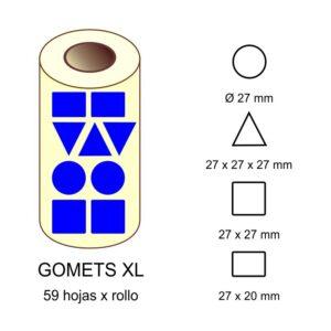 GOMETS XL EN ESTUCHE: azul