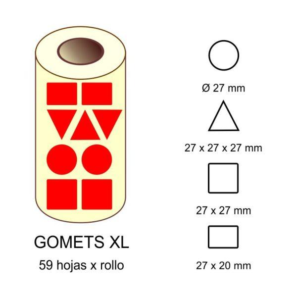 GOMETS XL EN ESTUCHE: rojo