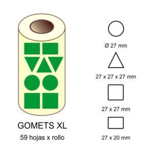 GOMETS XL EN ESTUCHE: verde