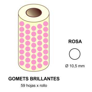 GOMETS ROSAS EN ESTUCHE Ø 10,5 MM