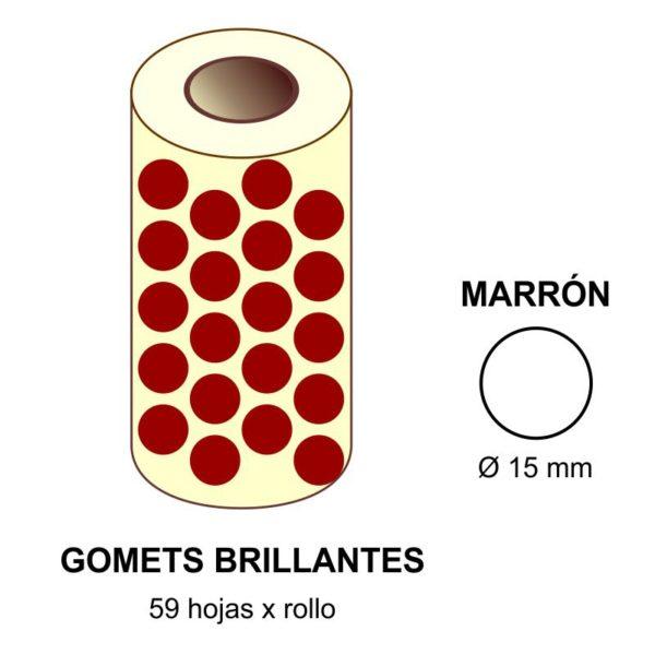 GOMETS MARRONES EN ESTUCHE Ø 15 MM