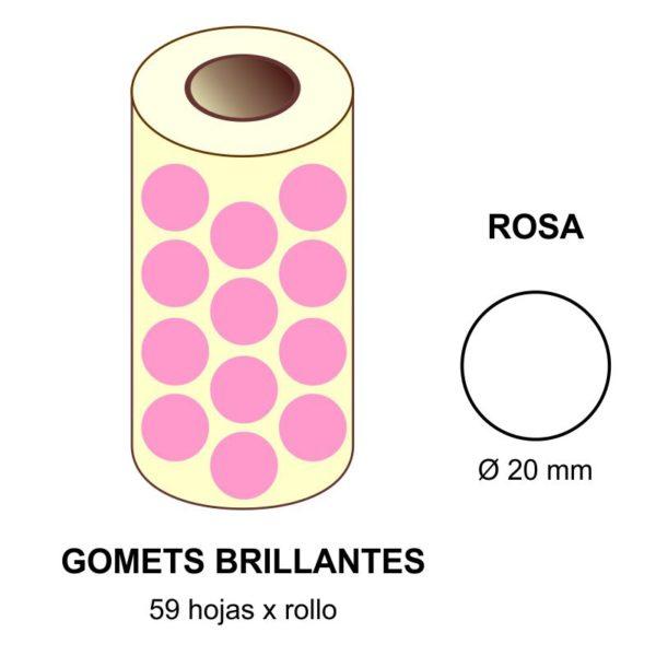 GOMETS ROSAS EN ESTUCHE Ø 20 MM