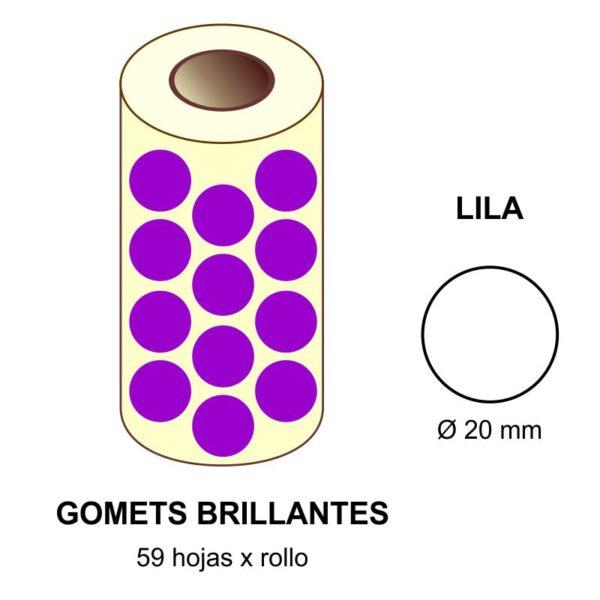 GOMETS LILAS EN ESTUCHE Ø 20 MM